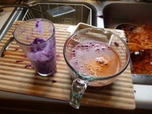 purple cabbage carrot juice